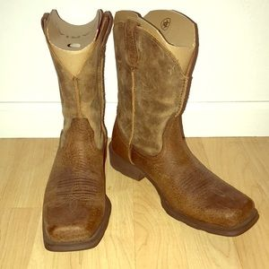 MENS Brown Leather Ariat Boots